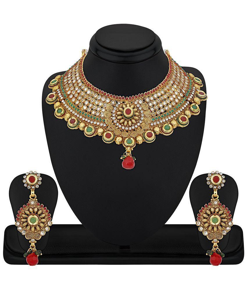RG Fashions Jewellery Multicolour Zinc Necklace Set
