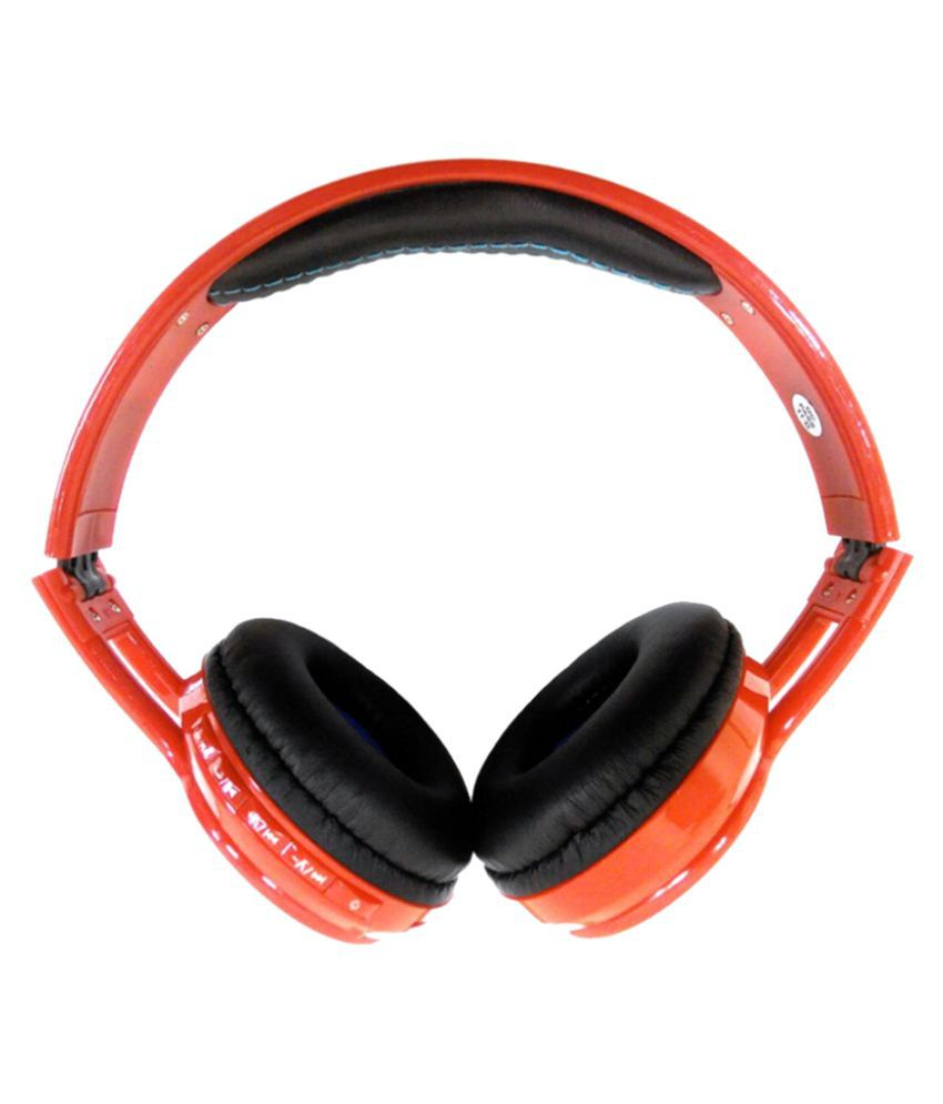 Anti Tank Red Wireless Bluetooth Headphone