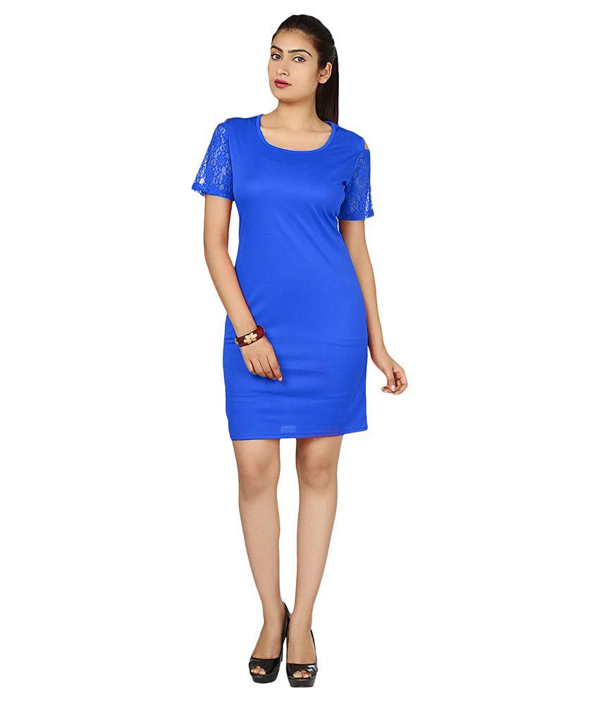 Aurr Blue Cotton Dresses