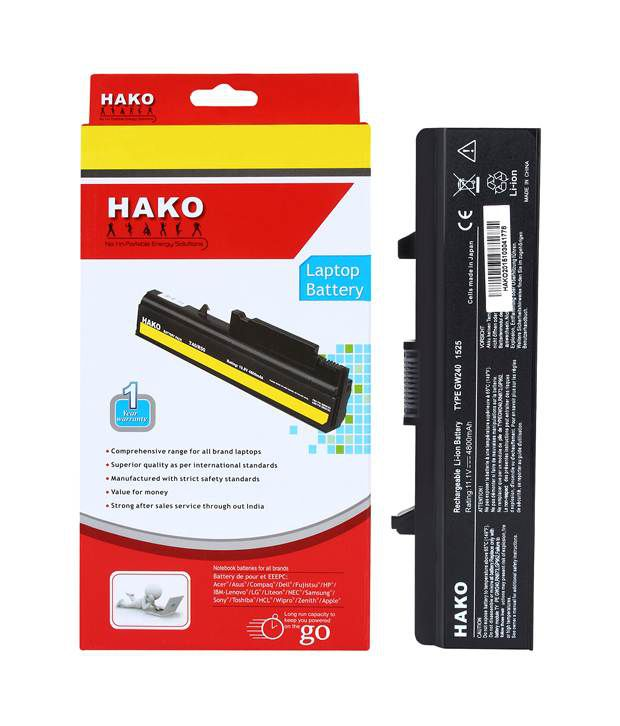 Hako Li-ion Laptop Battery For Dell Vostro 1015n Compatible 6 Cell