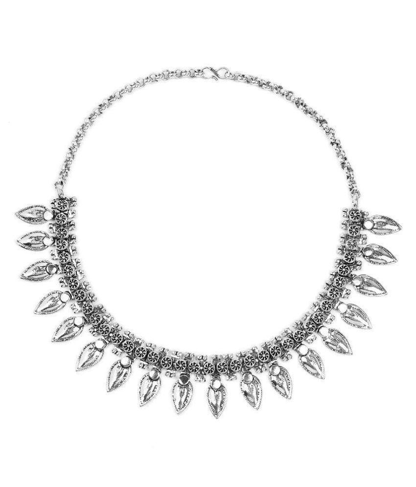 Johareez Silver Alloy Necklace