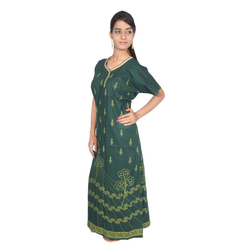 bf9bc8750 Buy Babita Trading Green Cotton Nighty   Night Gowns Online at Best Prices  in India - Snapdeal