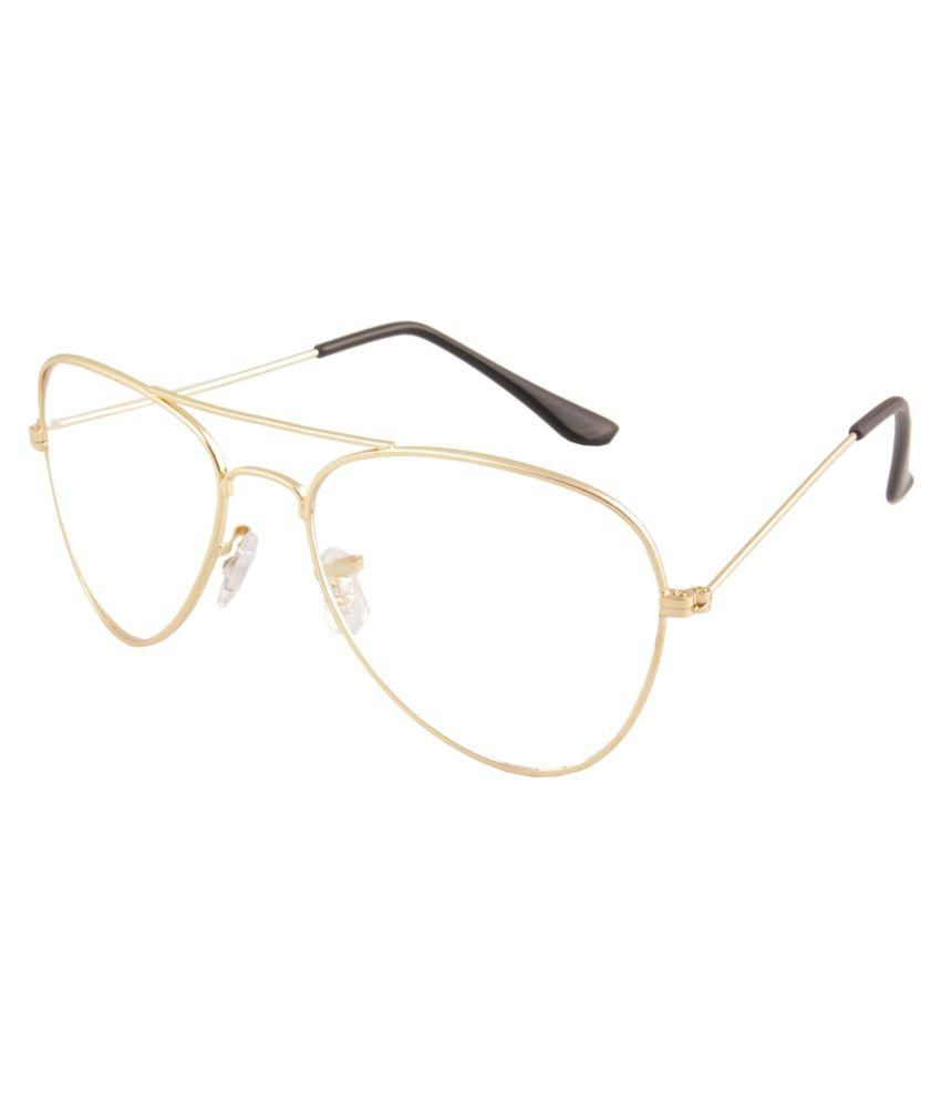 Gordon Golden Clear Aviator Sunglasses