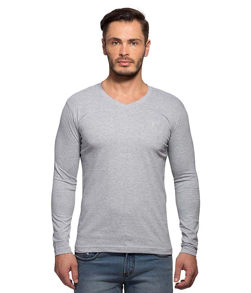 Maniac Grey V-Neck T Shirt