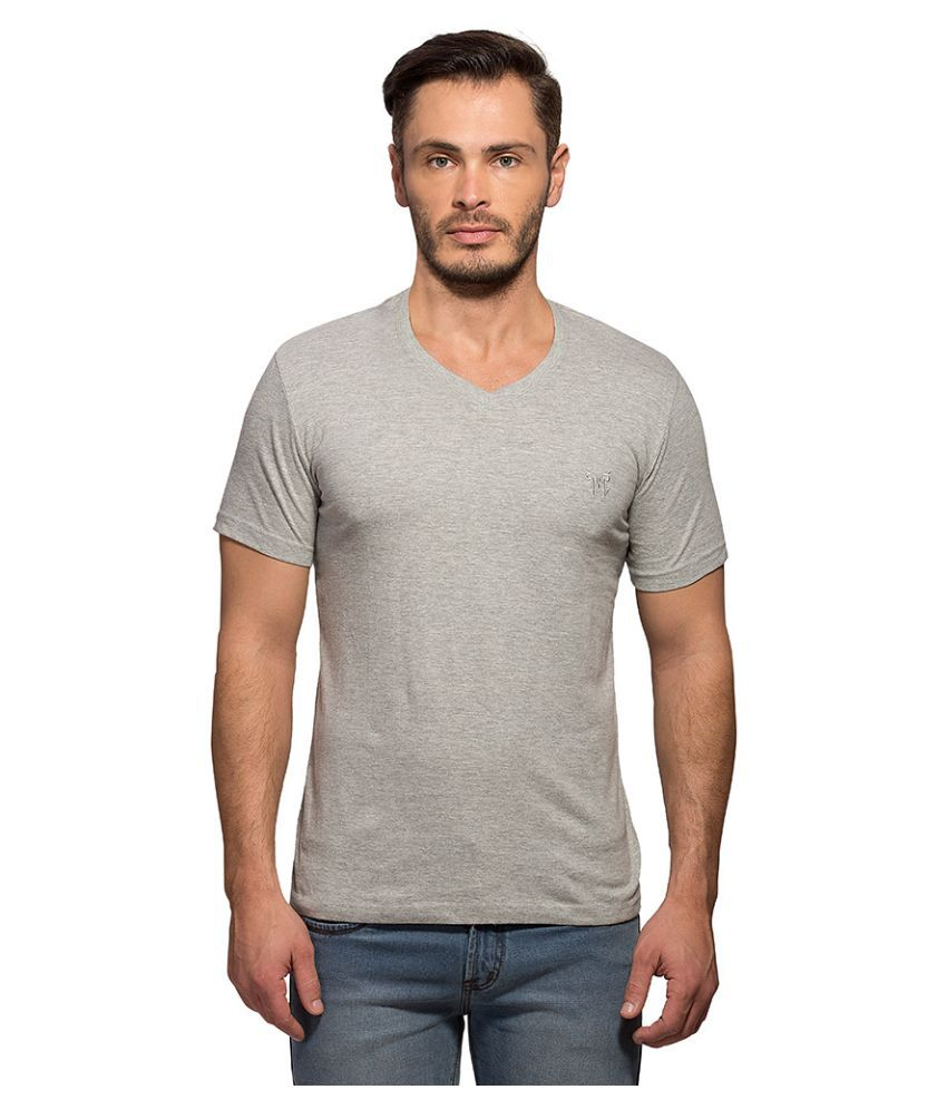 Maniac Grey V-Neck T Shirt