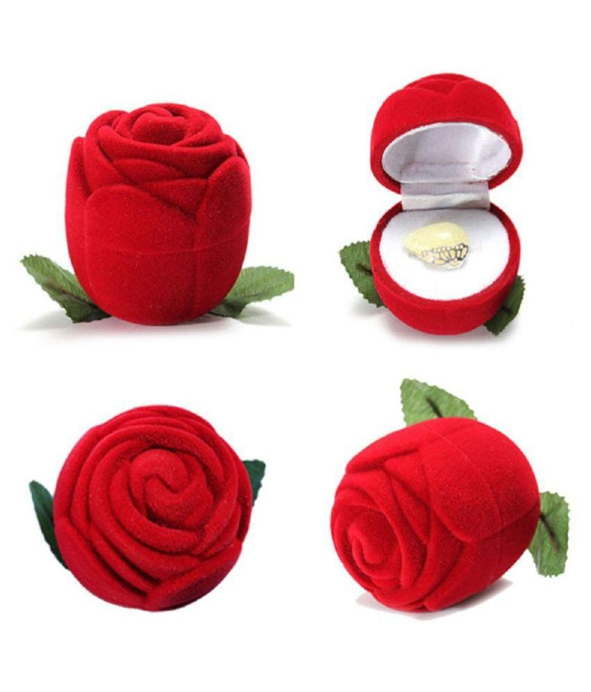 Shilpi Handicrafts Red coloured Fabric Designer Ring Box