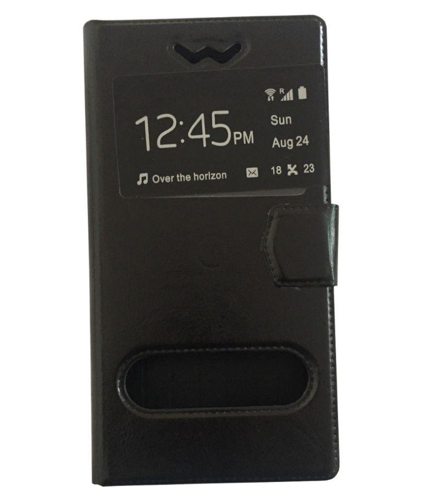 Yoshata Flip Cover for Panasonic T33 - Black