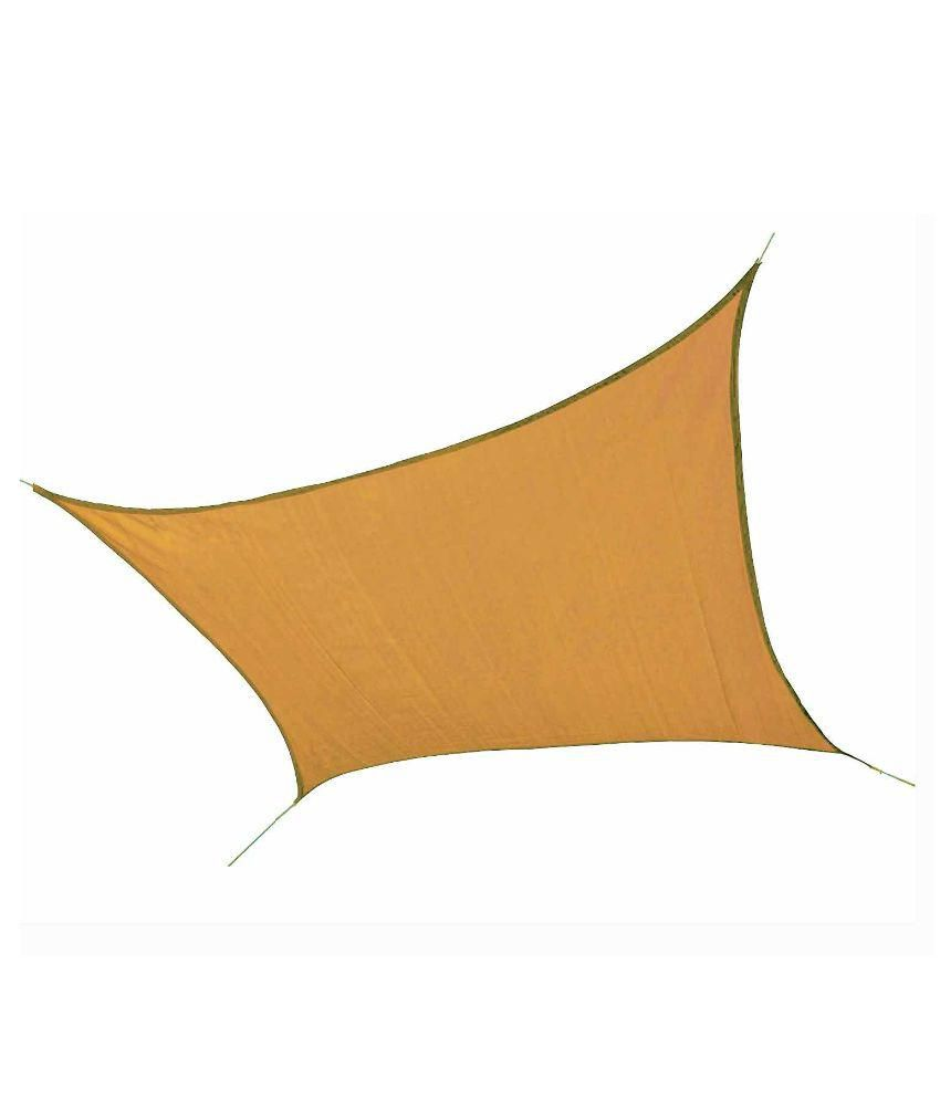 Hippo Shade Sail 9.5 X 16.5 FT in Beige Color with Attached Rope and upto 90% Sun Blockage
