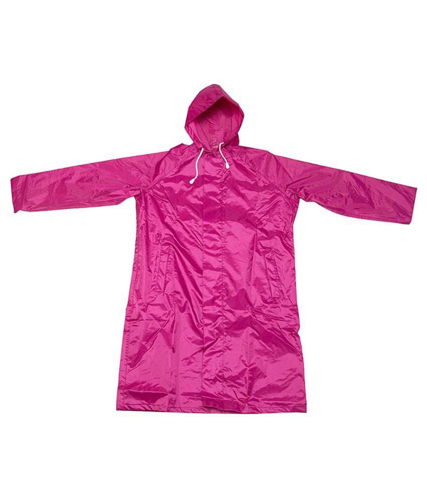 Inside Fashion Pink Viscose Rainwear Jackets