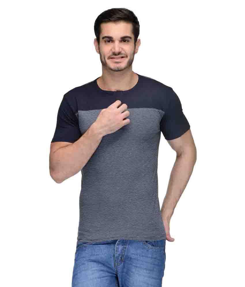 Teesort Blue Henley T Shirt