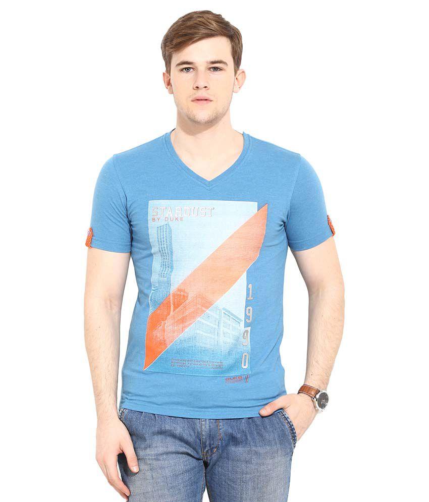 Duke Blue V-Neck T Shirt