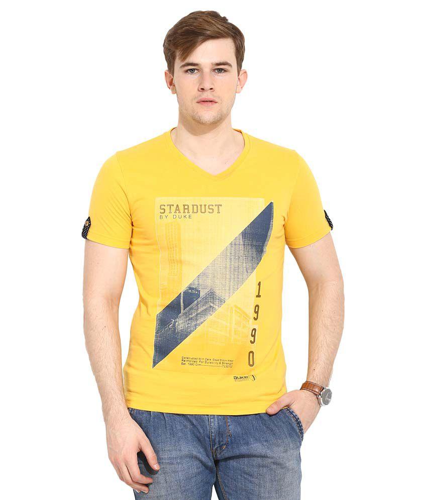 Duke Yellow V-Neck T Shirt