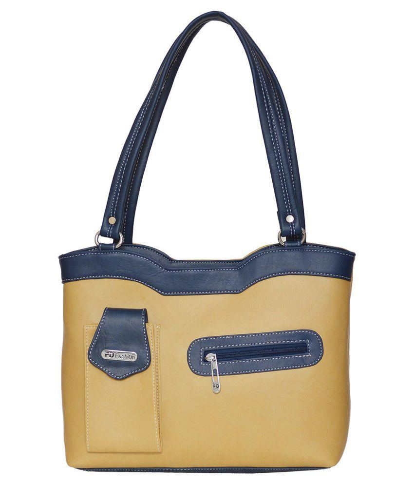 FD Fashion Beige P.U. Shoulder Bag