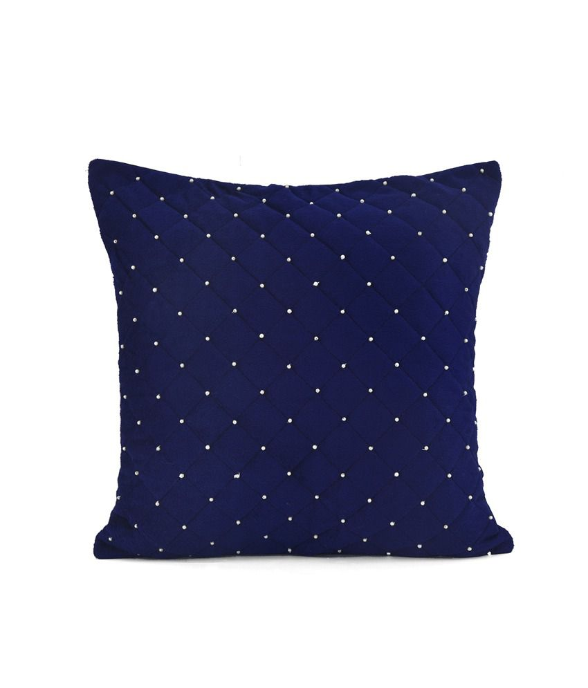 @Home by Nilkamal Blue Abstract Polyester Cushion Covers - Set of 2