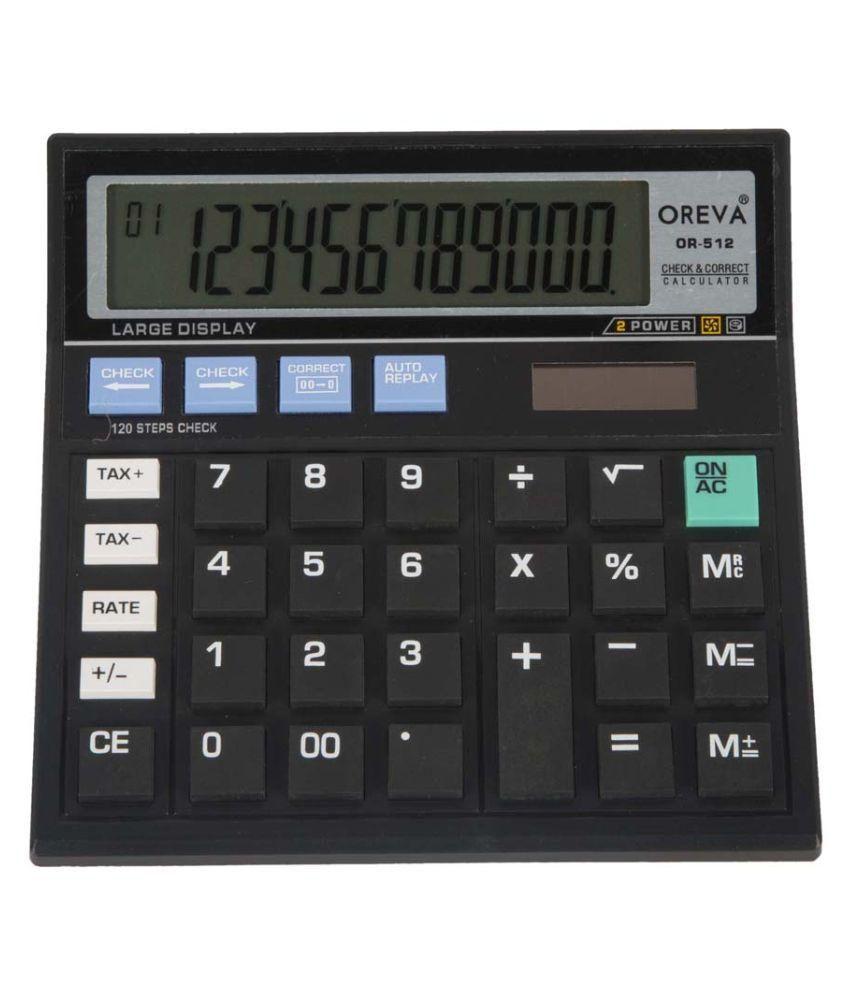 oreva black basic calculator buy online at best price in. Black Bedroom Furniture Sets. Home Design Ideas