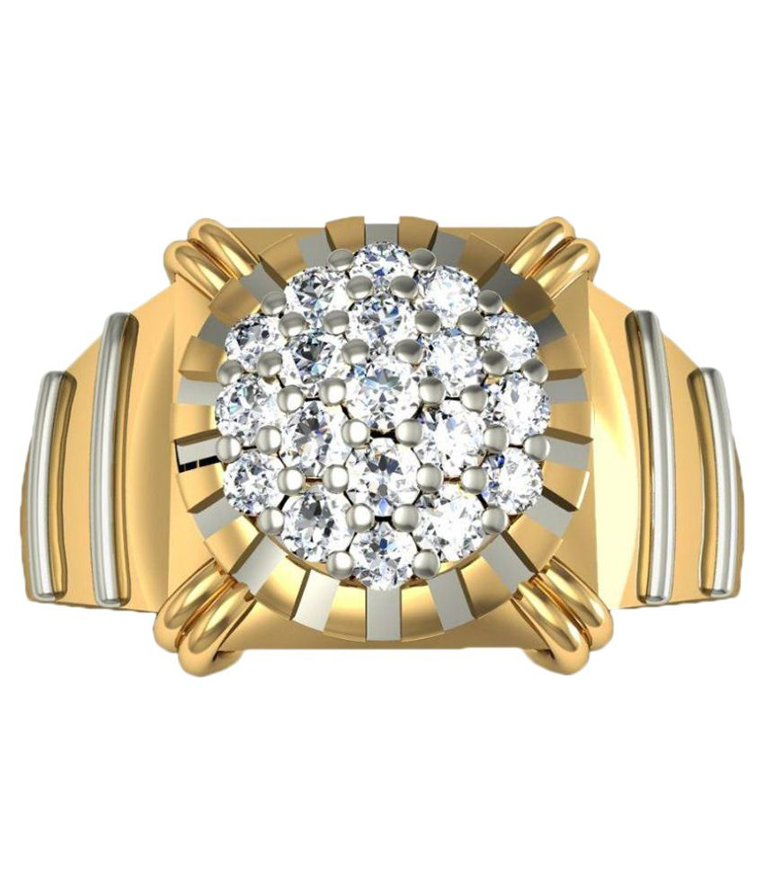 Rasav Jewels 14 Kt Gold BIS Hallmarked Ring