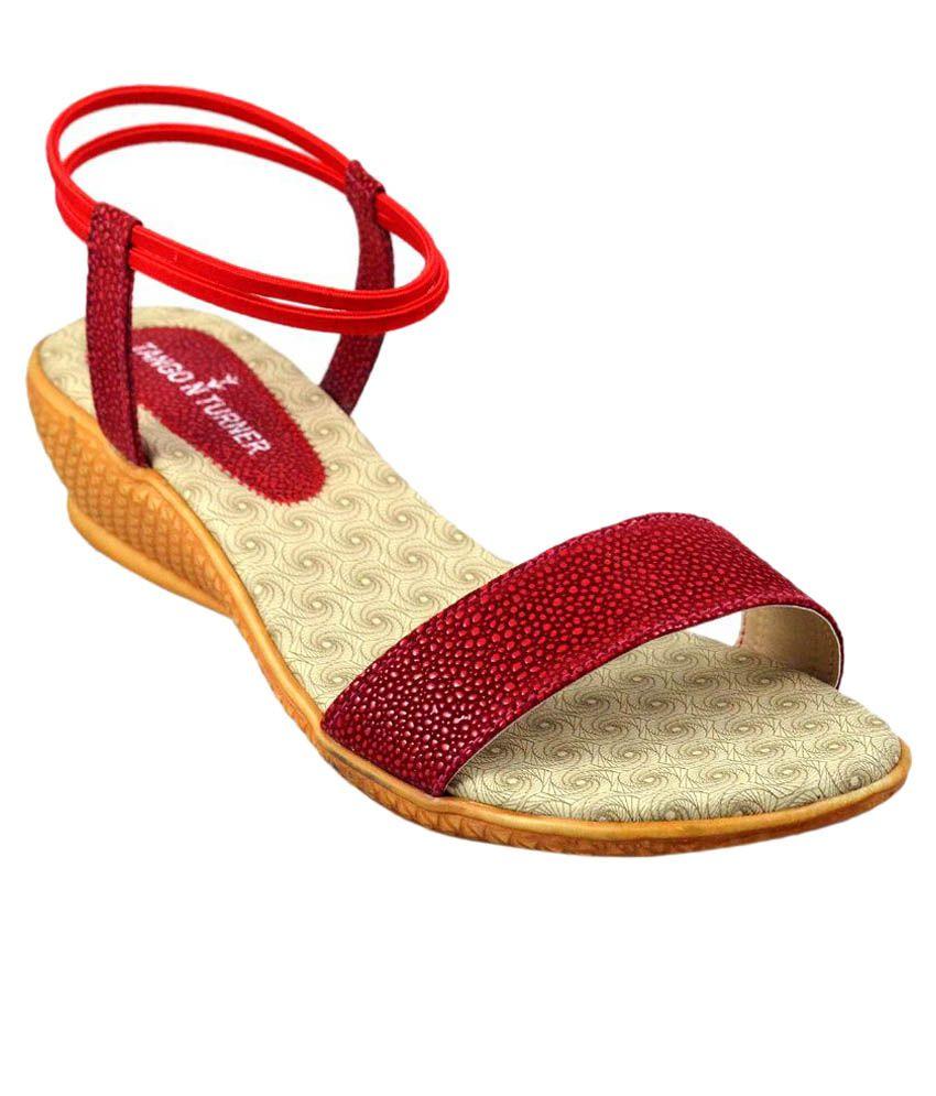 Tango n Turner Red Wedges Heels