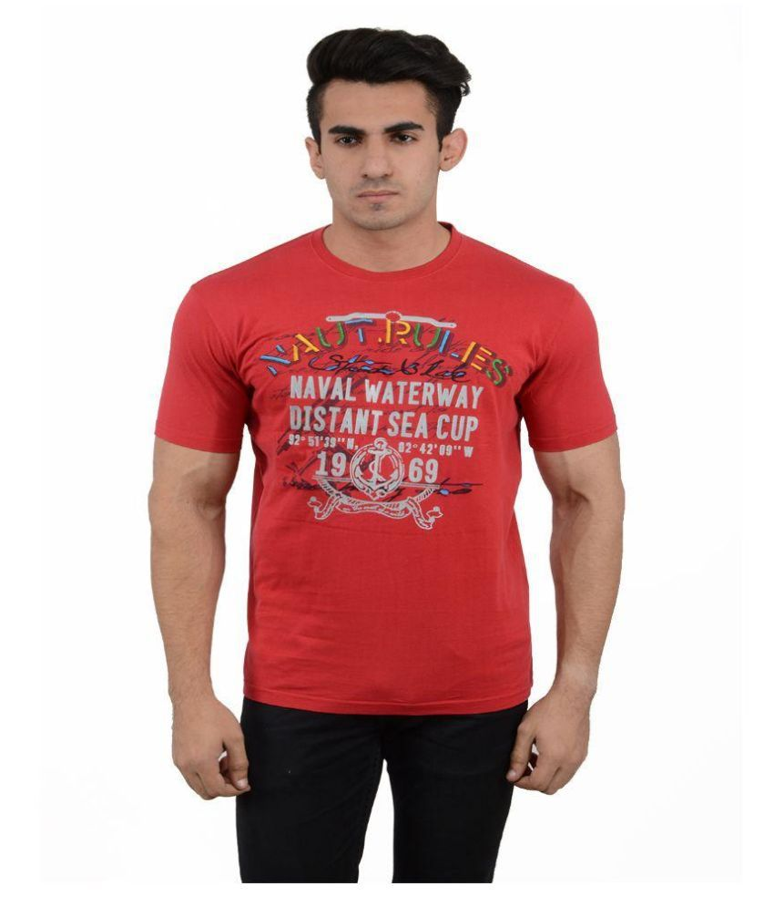 Black Sparrow Red Round T Shirt