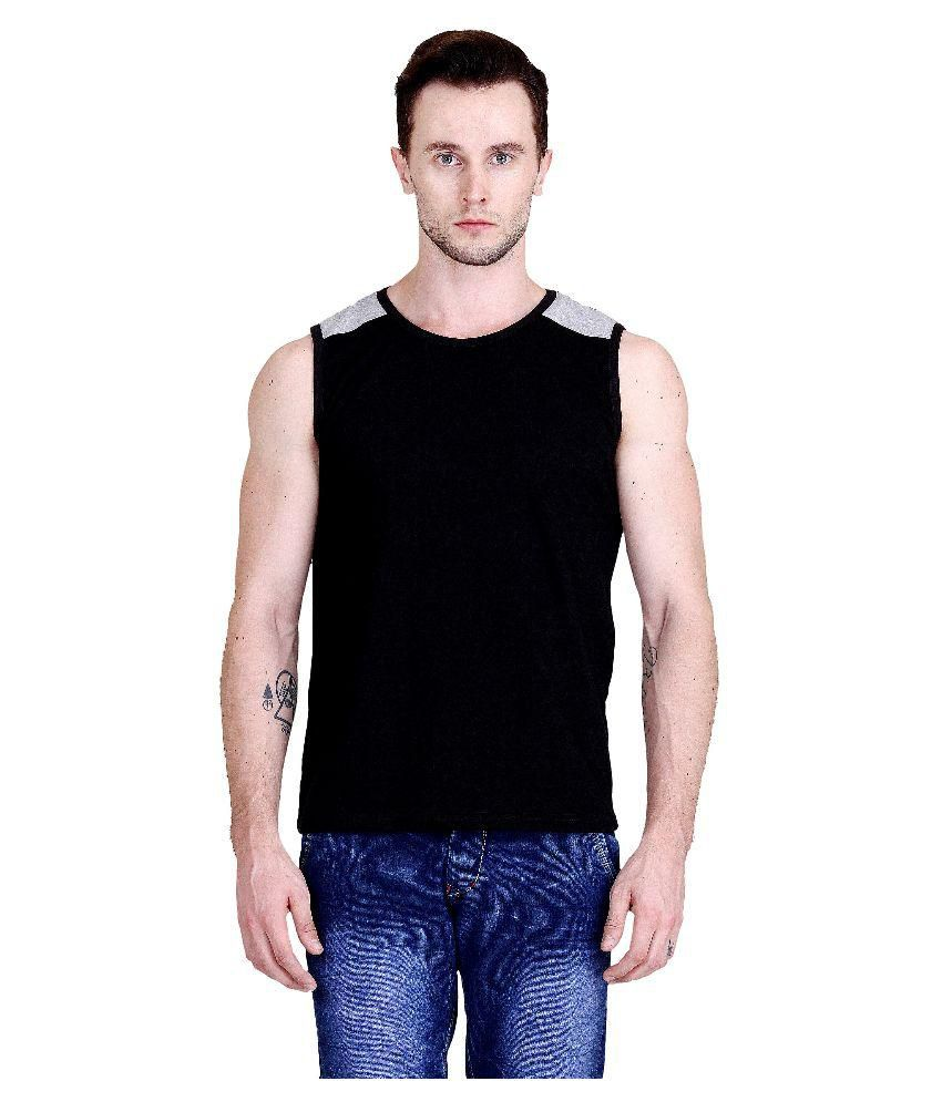 Fabstone Collection Black Round T Shirt