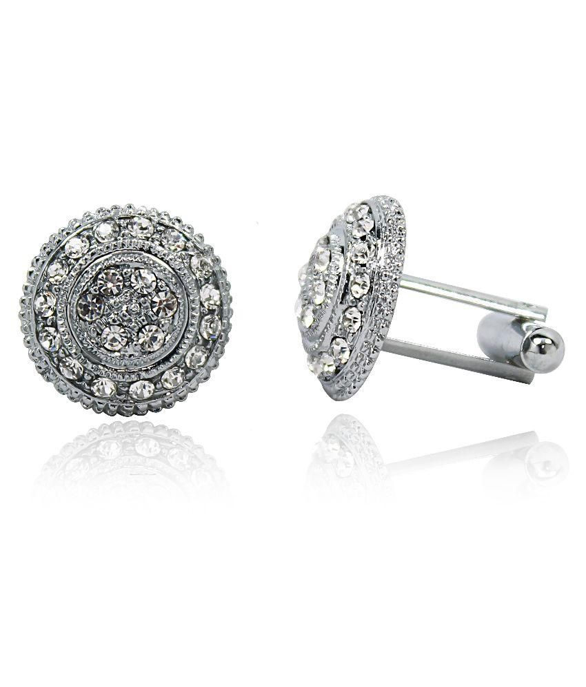 Hydes Silver Metal Cufflink For Men