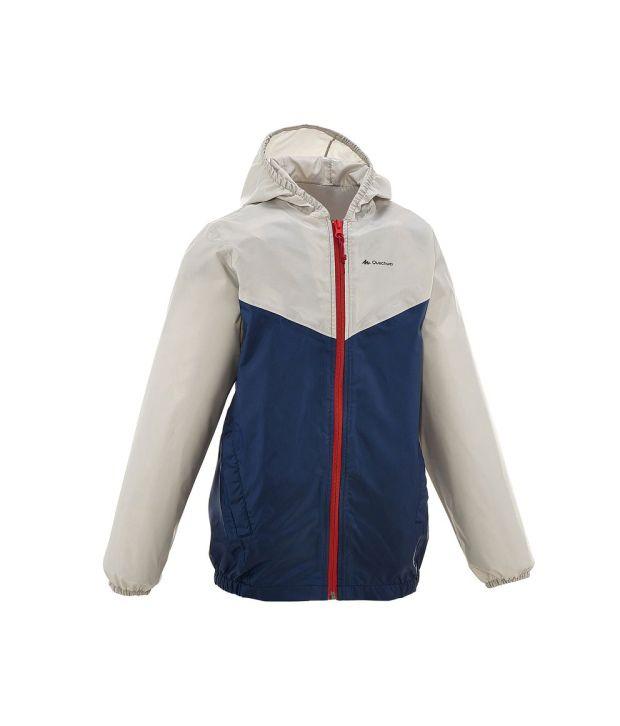 QUECHUA Raincut Zip Kids Hiking Jacket