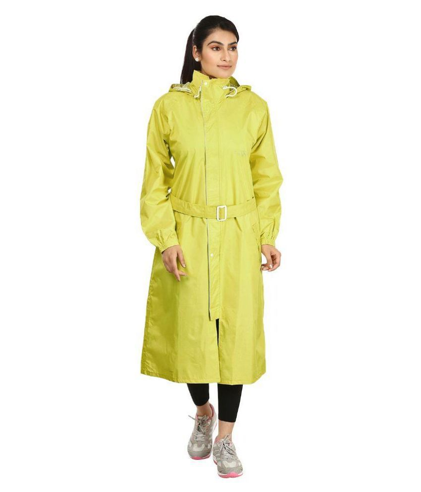 Rainfun Green Waterproof Long Raincoat