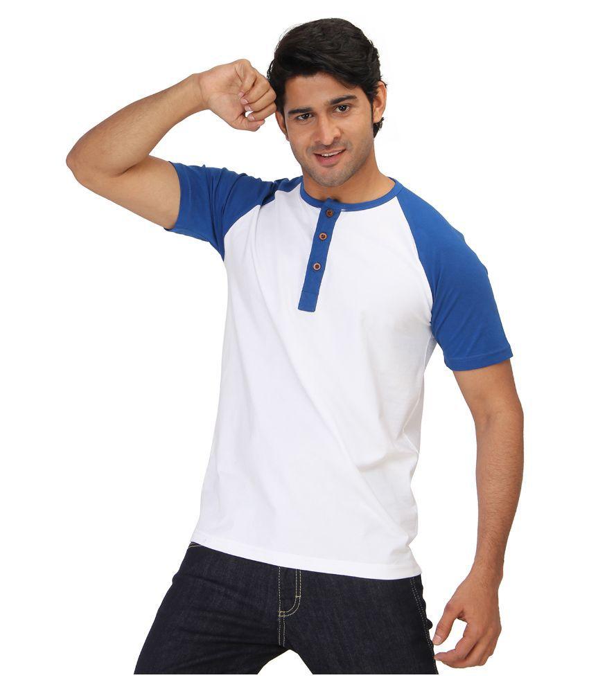 Bisq White Henley T Shirt
