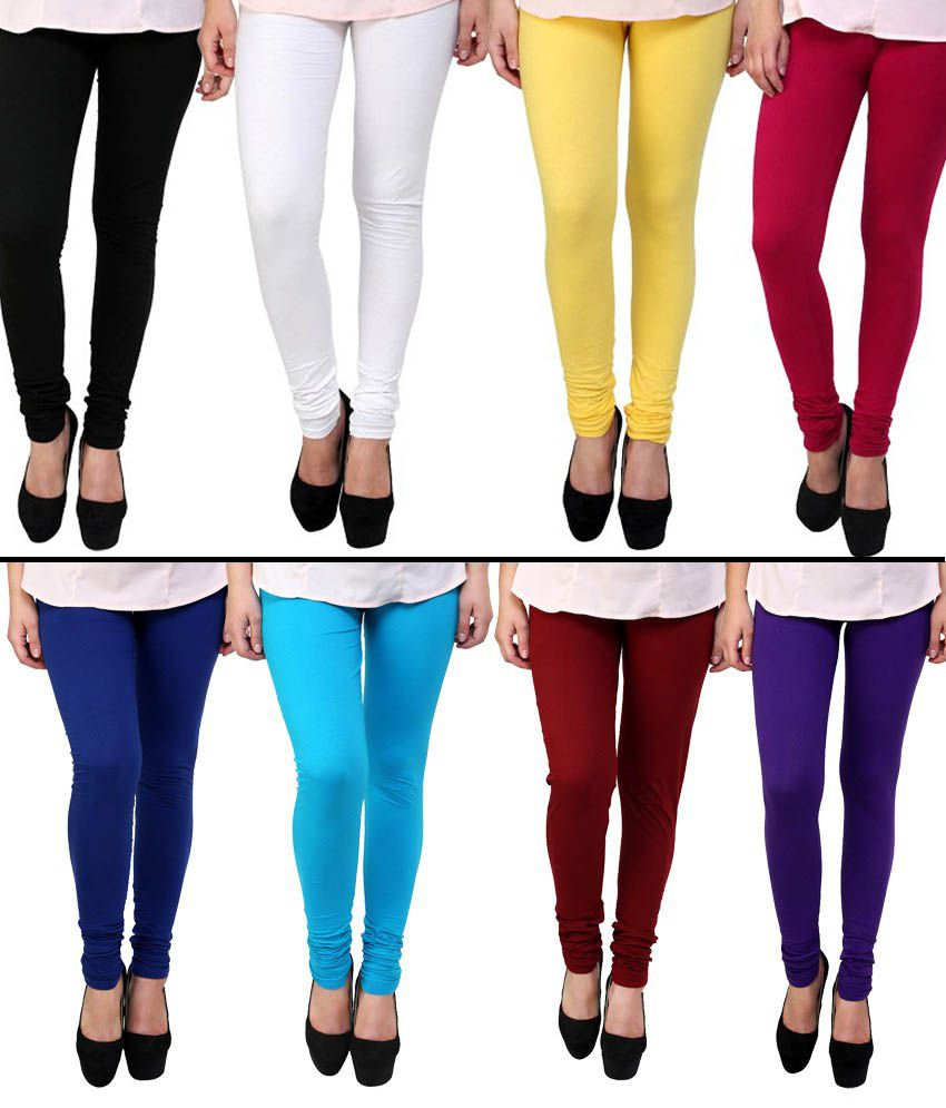 11ecbb0149 Priyali Collection Multicoloured Cotton Lycra Leggings Price in India - Buy  Priyali Collection Multicoloured Cotton Lycra Leggings Online at Snapdeal