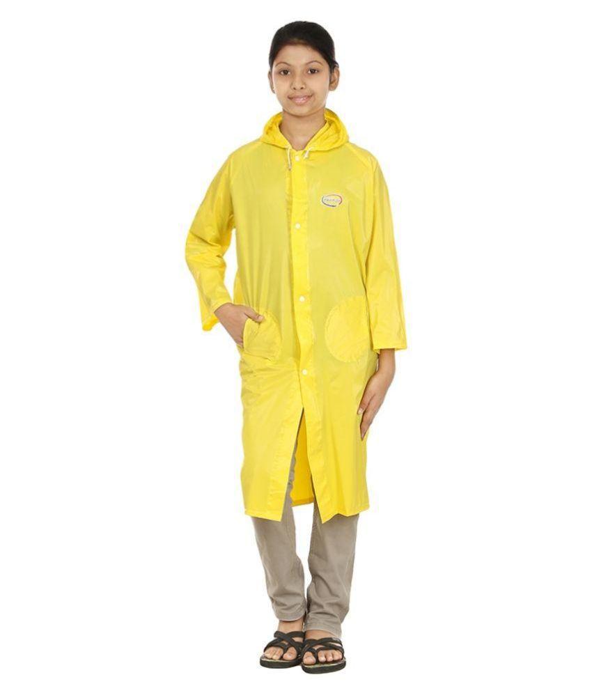 Rainfun Yellow Waterproof Long Raincoat
