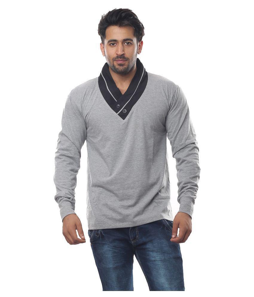 V3SQUARED Grey V-Neck T Shirt