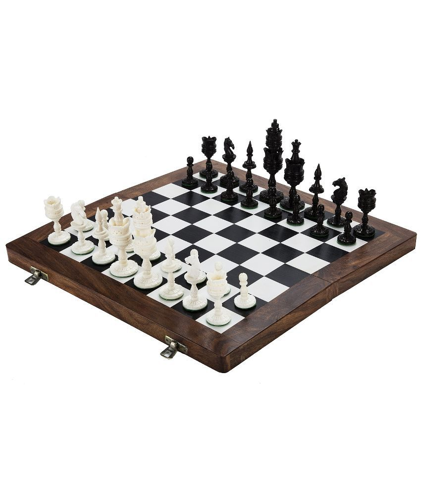 Chessncrafts Lotus Bone Chess Set
