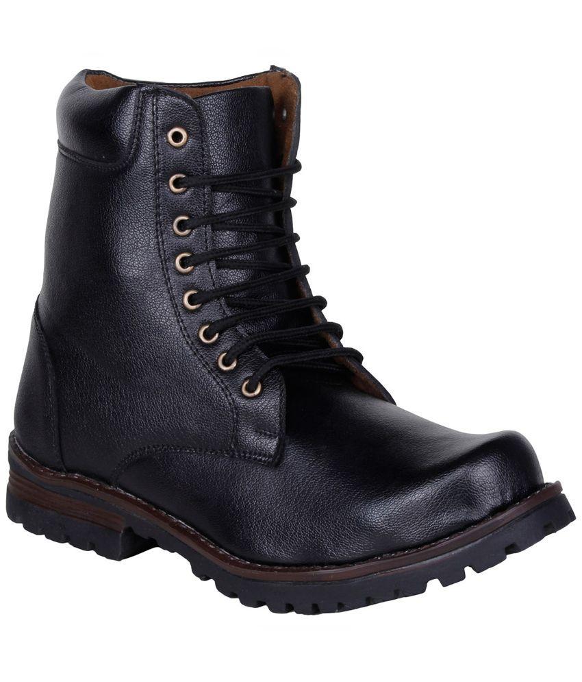 Kraasa Black Boots