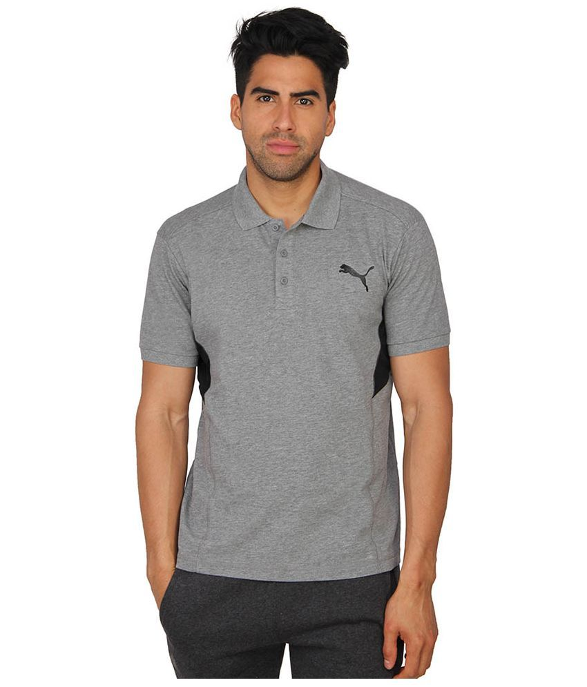 Puma Grey Polo T Shirts