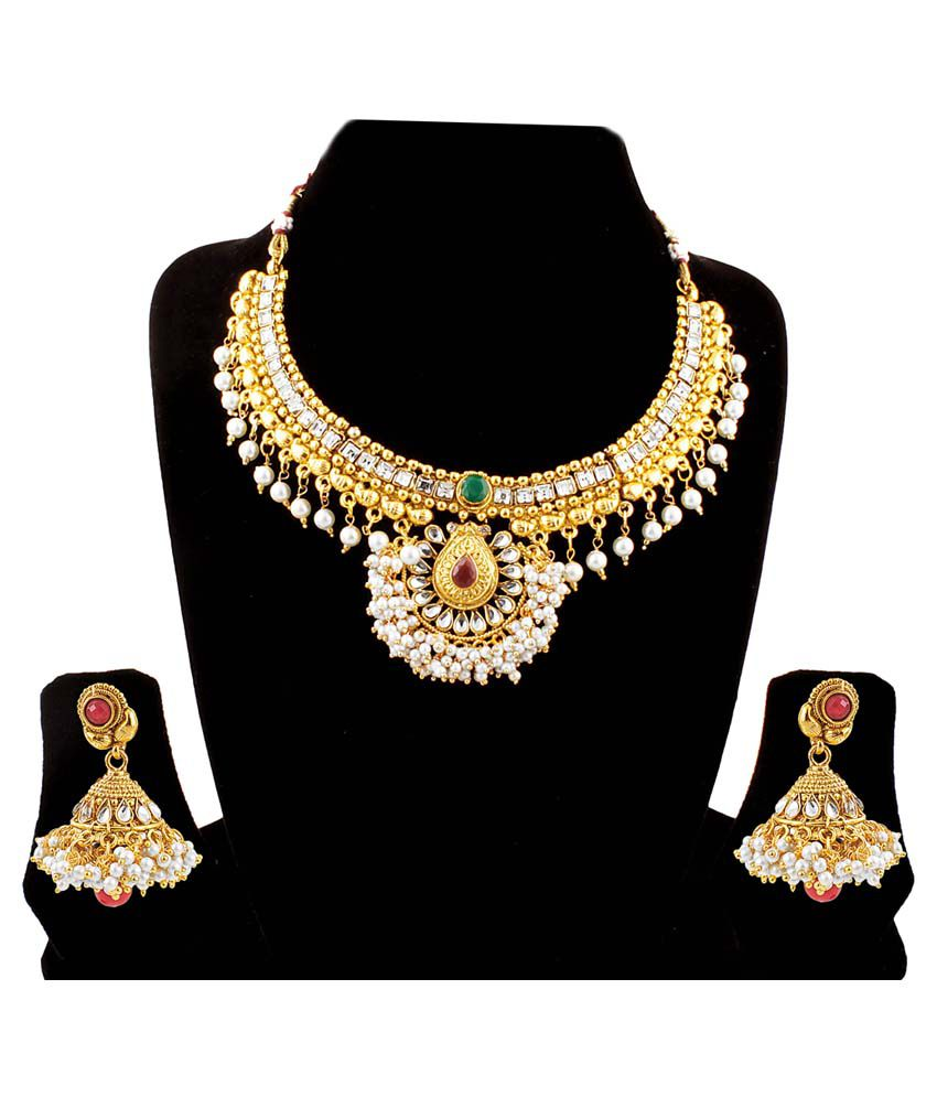 Takspin Gold Plated Party Wear Necklace Set