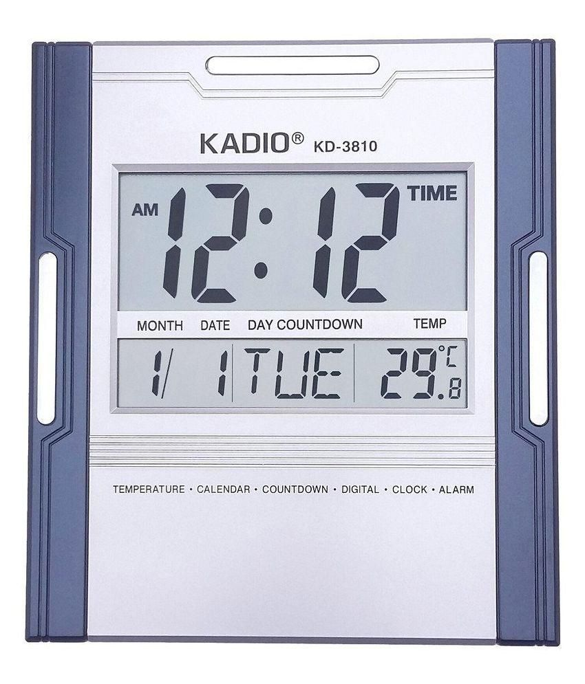 kadio rectangular digital wall clock kadio3810 10