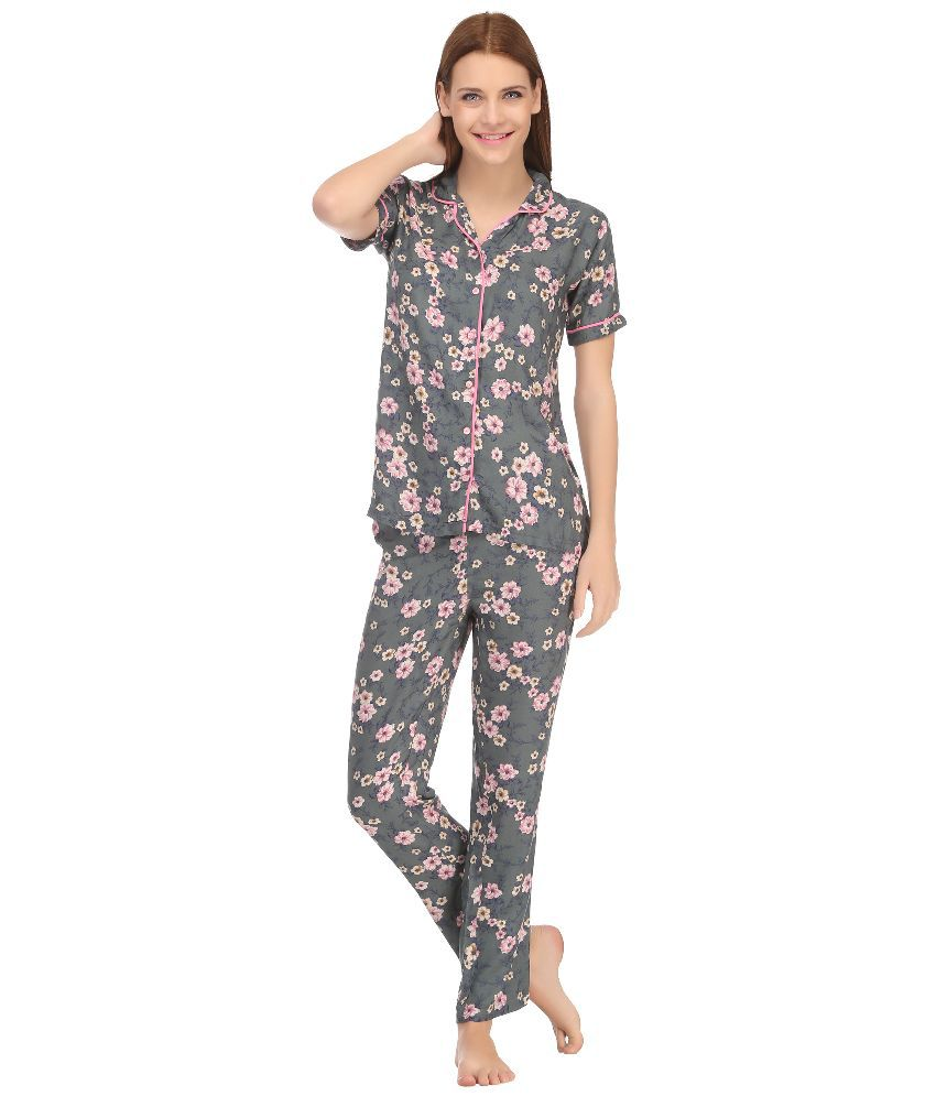 Buy Kanvin Gray Cotton Nightsuit Sets Online at Best Prices in India -  Snapdeal 4bafe3587