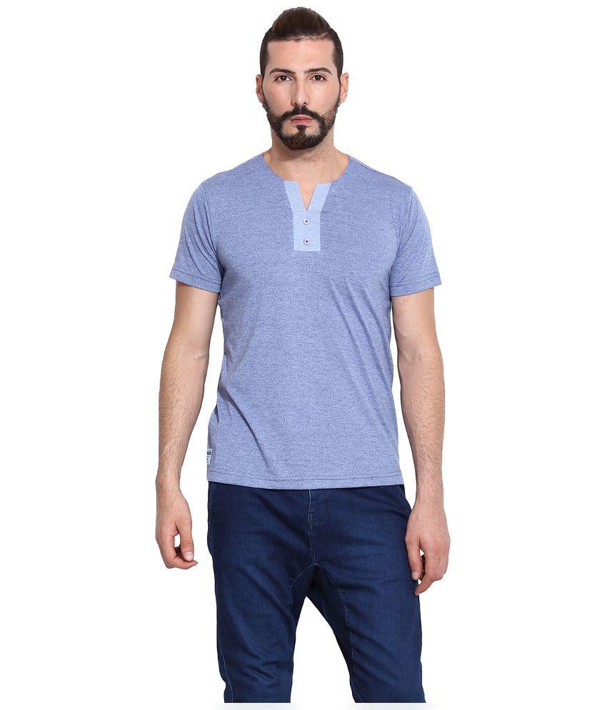 Western Vivid Blue Round T Shirt