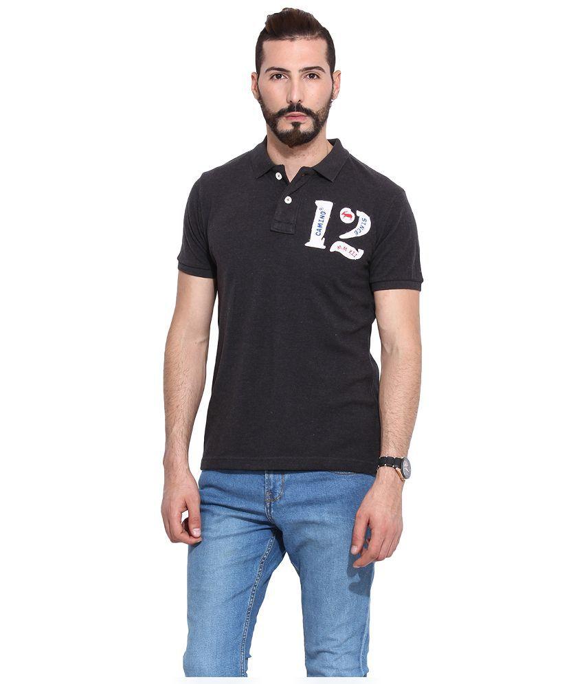 Camino Black Round T Shirt