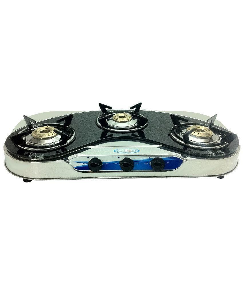 Flamingold FG-GT302 Glass Top Gas Cooktop (3 Burner)