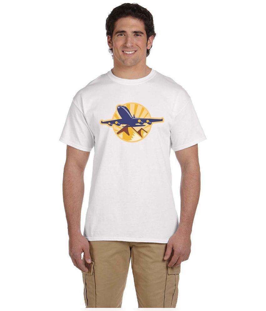 Haunting Dragons White Round T Shirt