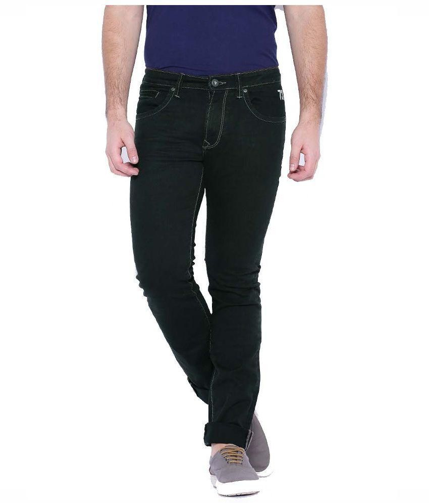 Pepe Jeans Black Slim Fit Solid Jeans
