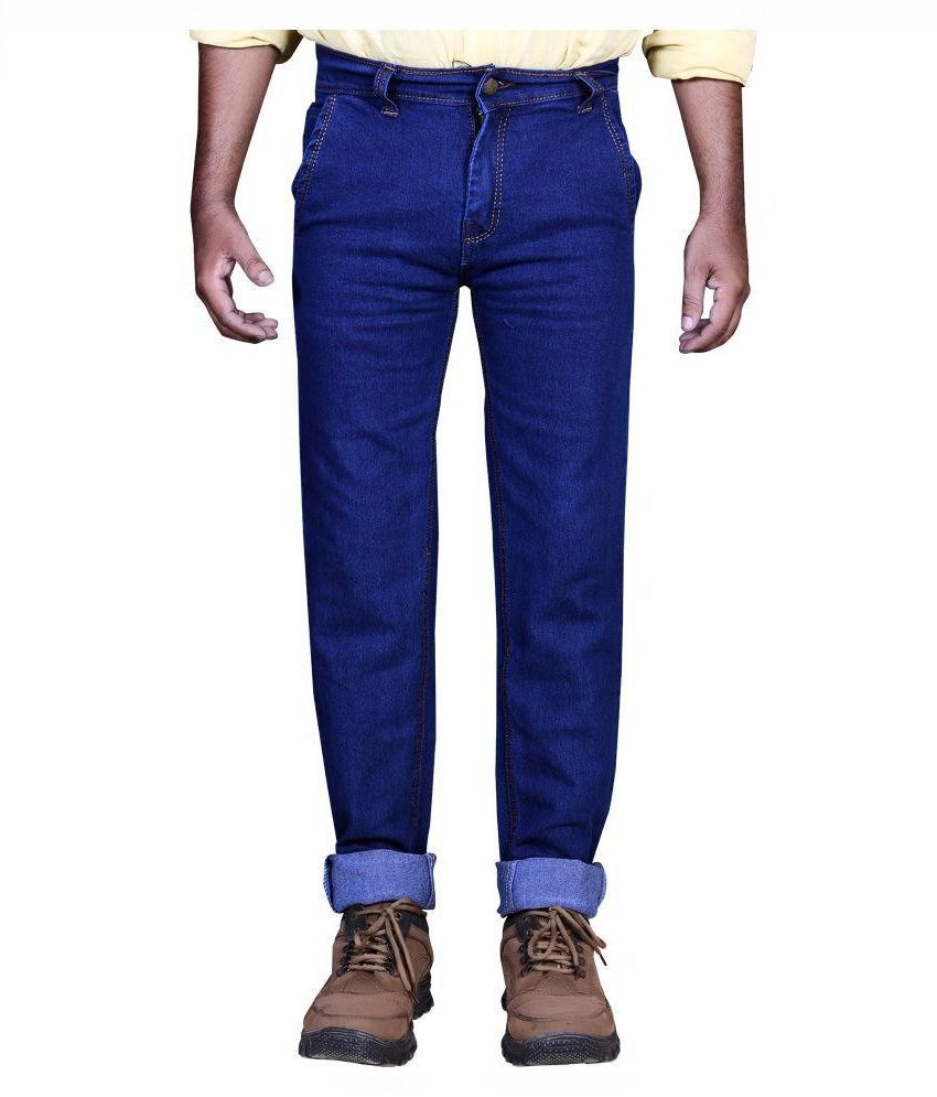 Priyansh Enterprise Blue Regular Fit Solid Jeans