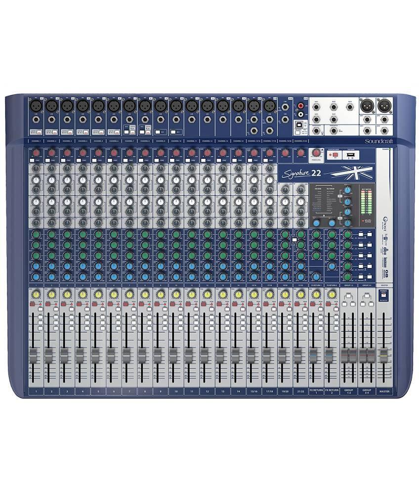 soundcraft signature 22 analog mixer buy soundcraft signature 22 analog mixer online at best. Black Bedroom Furniture Sets. Home Design Ideas