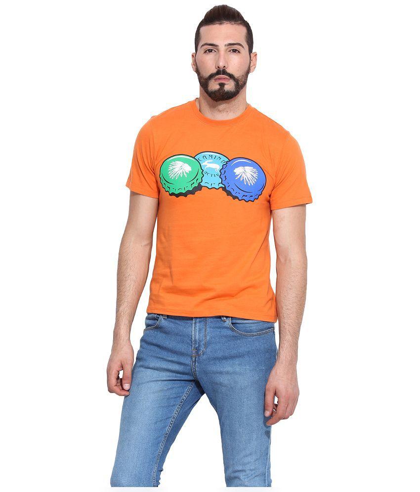 Camino Orange Round T Shirt