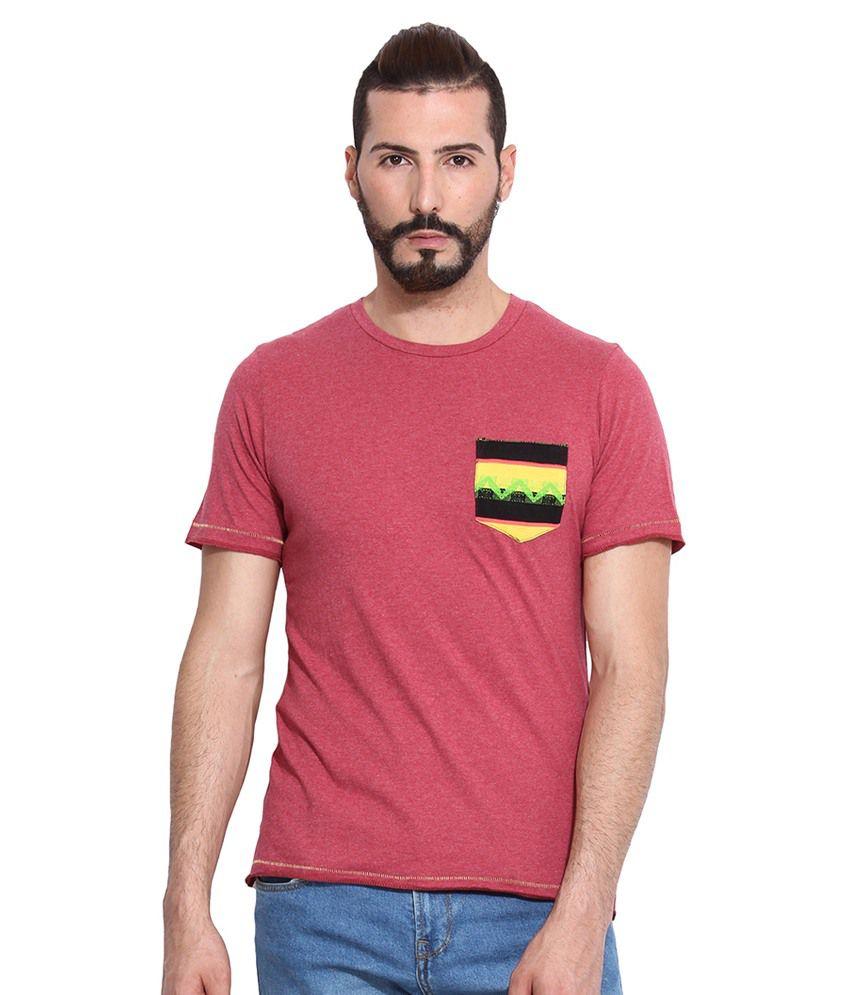 Camino Red Round T Shirt