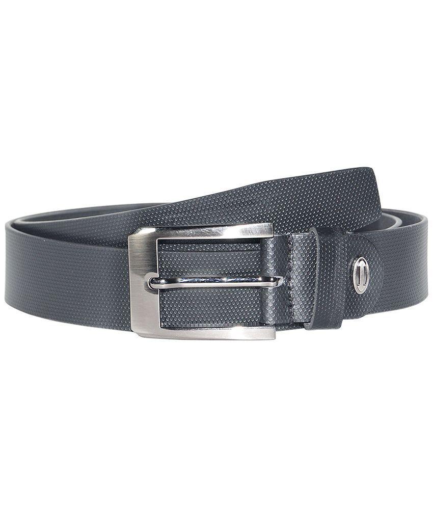 Hadwin Black Leather Belt for Men