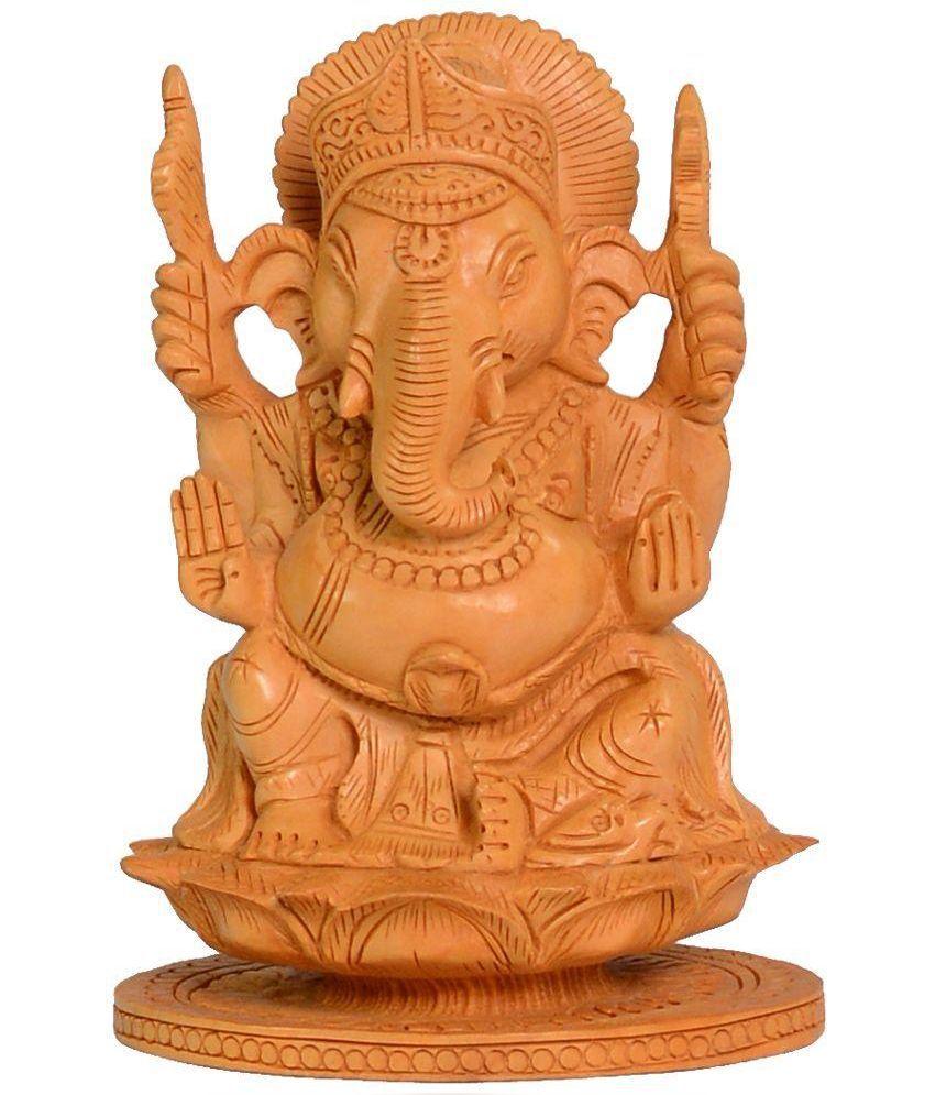 Kayara Collection Brown Ganesh Idol