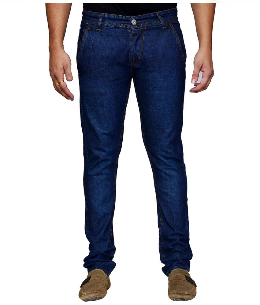 X-Cross Blue Slim Fit Solid Jeans