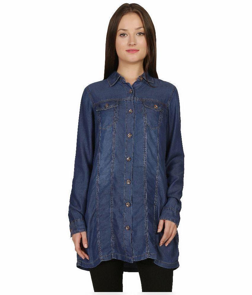 Mangosteen Blue Denim Shirts