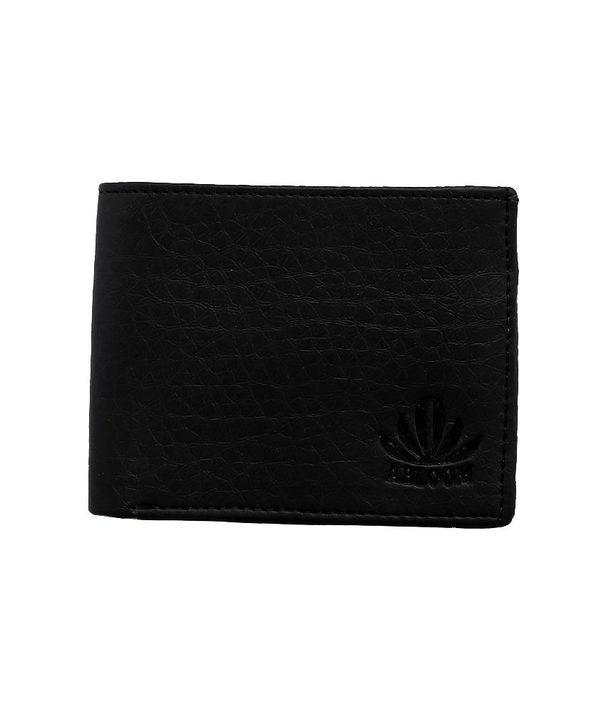 Abloom PU Black Formal Short Wallet
